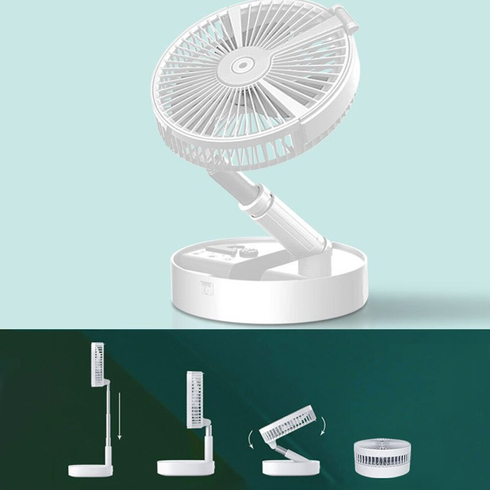 Controlled Fans cooling Folding Spray humidification lighting 7200mahbattery Air conditioner Appliances USB fanPortable Remote enlarge