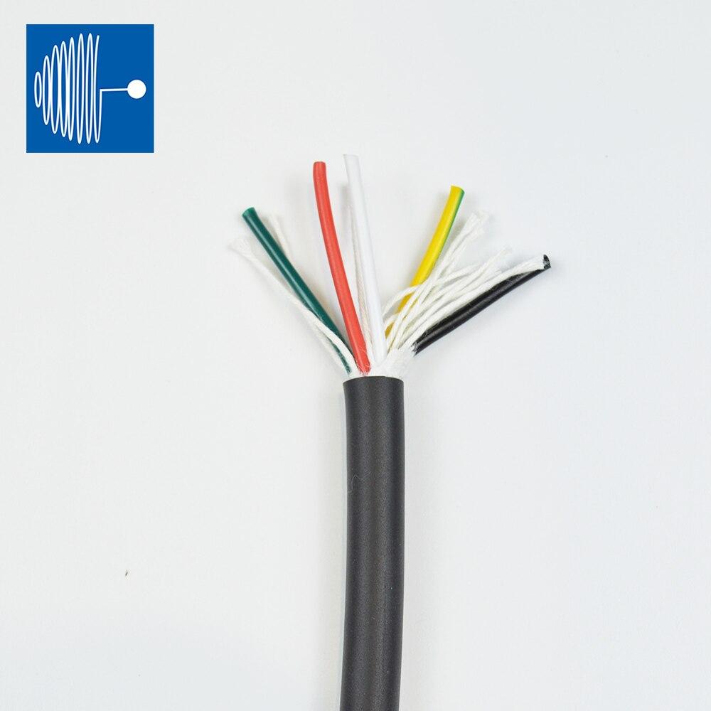 TRIUMPHCABLE/SHENGPAI alta flexibilidad 5 M RVV cable 0,75 MM 2/3/4/5 coresmulticore negro...