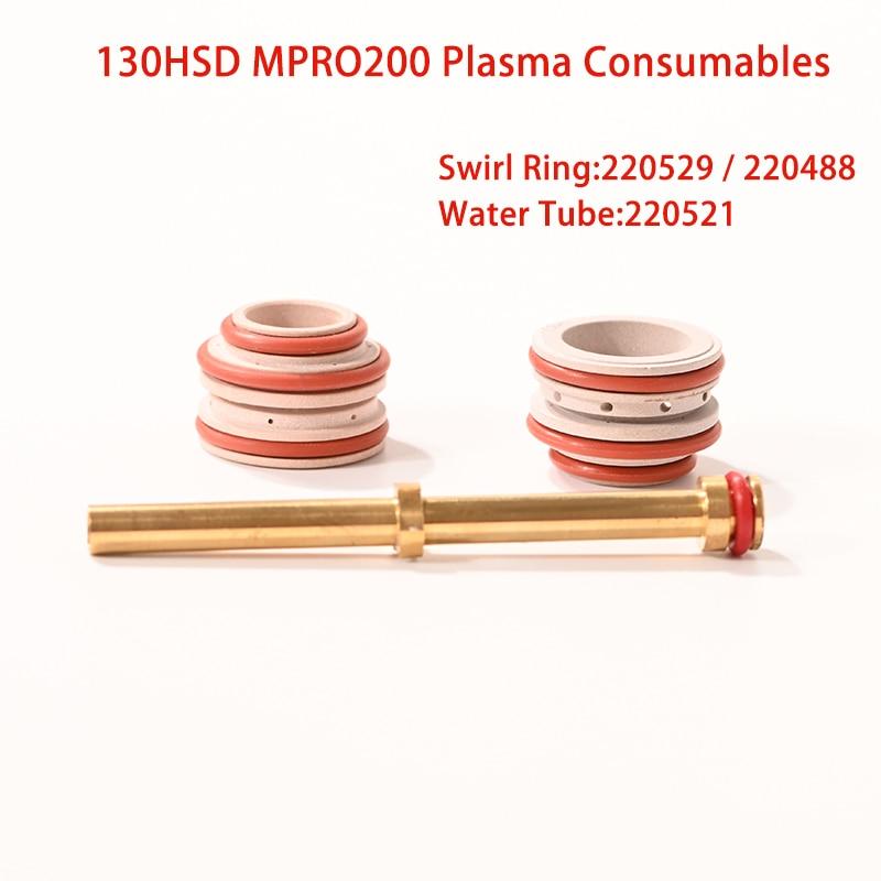 Materiali di consumo per macchine da taglio al Plasma Mpro200 130HSD di alta qualità Swirl Ring 220529 220488 Water Tube 220521