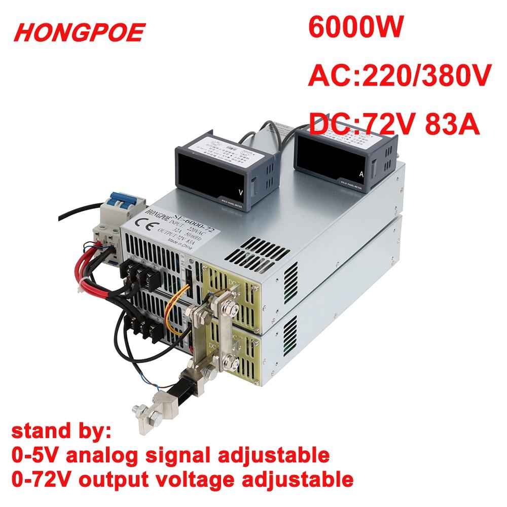 72v fonte de alimentacao 0 72v potencia ajustavel 0 5v controle de sinal analogico