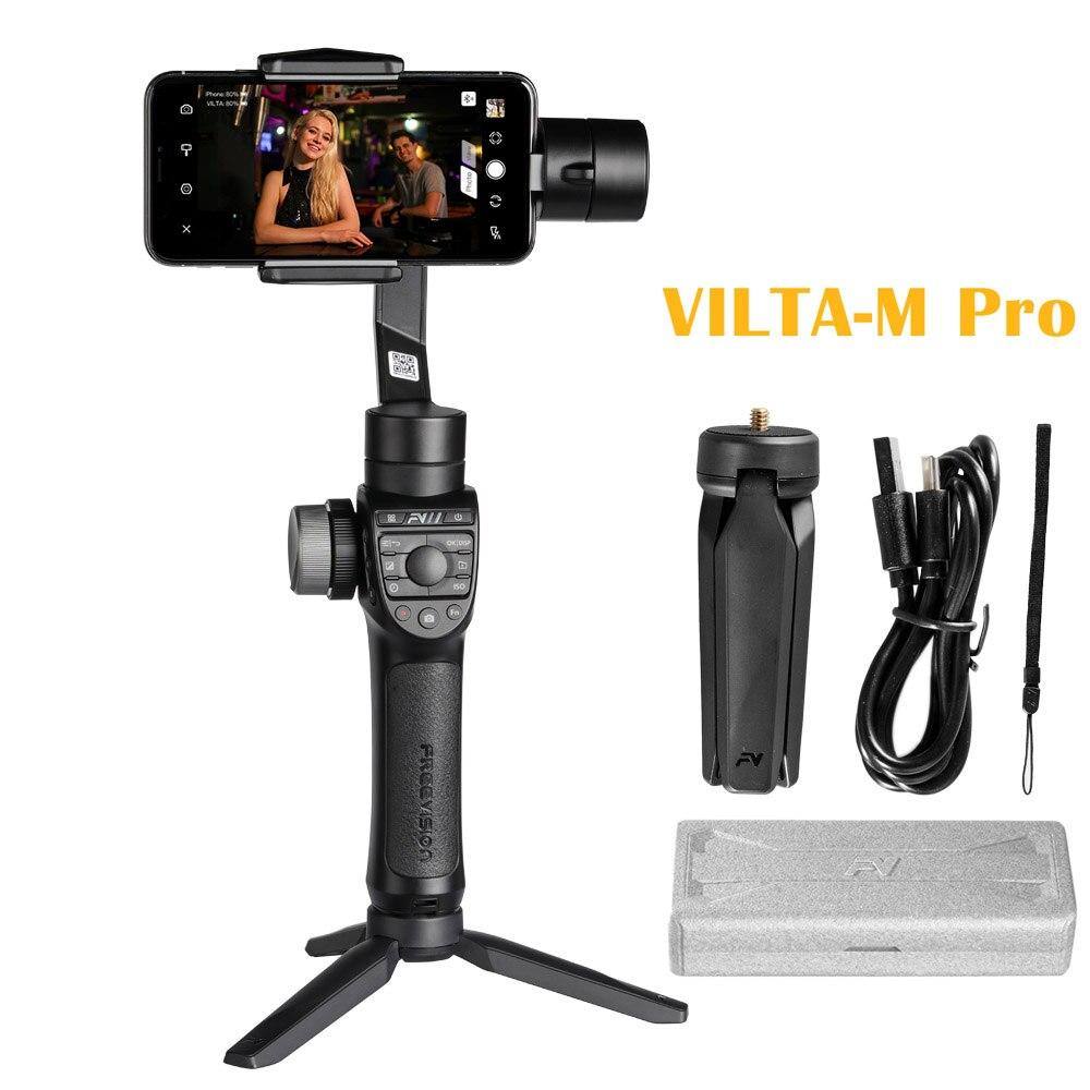 Foleto Freevision VILTA-M Pro 360 grados 3-Axis Handheld Gimbal Video estabilizador con carga inalámbrica para teléfono inteligente