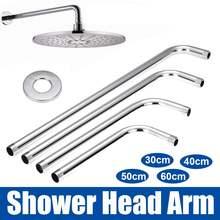 30/40/50/60cm Kit de bras dextension de pomme de douche en acier inoxydable 90 ° Tube mural bras de pomme de douche pluie pour matériel de salle de bain
