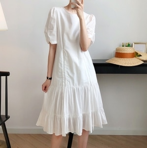 White Dress Women's  Section 2020 Summer New Drawstring Super Fairy Temperament French  dress