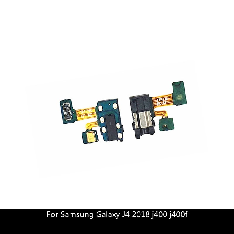 Auricular Jack auriculares Audio micrófono Flex Cable para Samsung Galaxy J4 2018 j400 j400f Audio jack Flex piezas de repuesto
