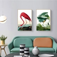flamingo animal poster painting wall art deco canvas painting nordic living room kitchen decoration