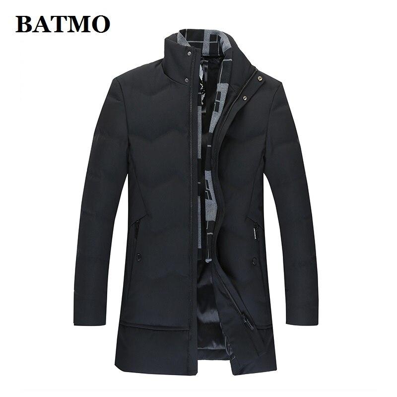 BATMO 90% chaquetas de plumón de pato blanco para hombre, chaquetas largas de invierno para hombre, gabardina para hombre, talla grande M-8XL 1858