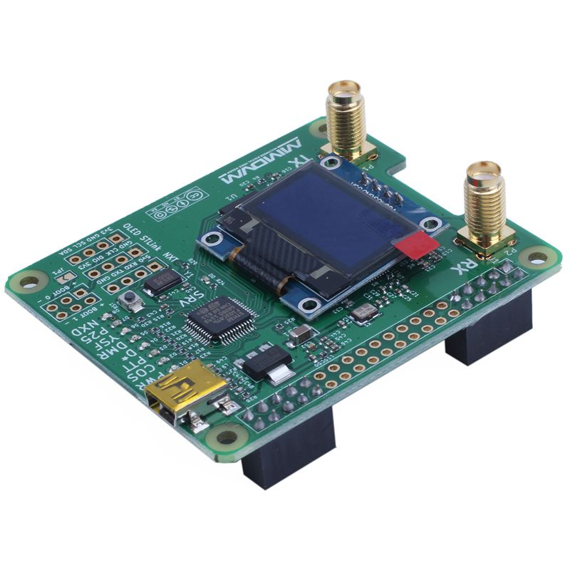 MMDVM_HS_Dual_Hat دوبلكس MMDVM هوت سبوت P25 DMR YSF NXDN Pi مراجعة 1.0 + OLED