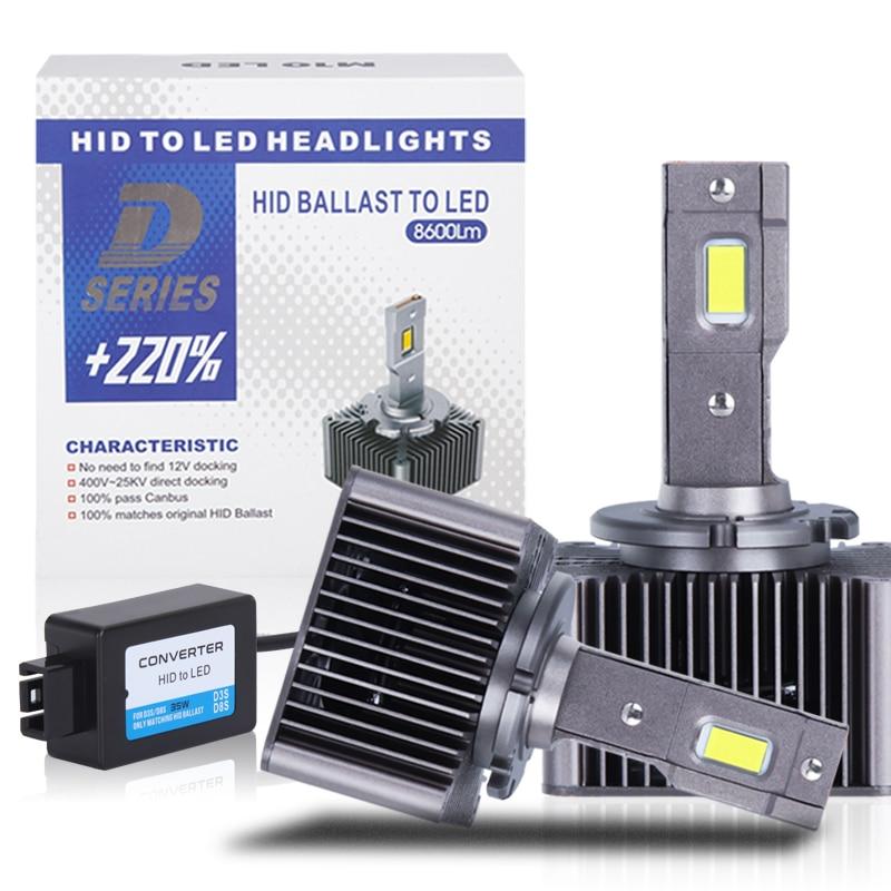Car Lights Bulb D2S D3S HID LED Headlight D1S D2R D4R D4S D5S D8S Auto Bulbs 70W 15000LM CANBUS LED MINI Design Led Lamp