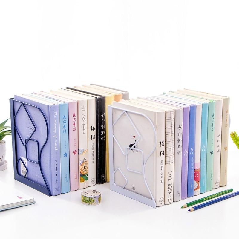 Retractable Book Support Stand Telescopic Metal Bookend Shelf Bookrack Organizer D08A