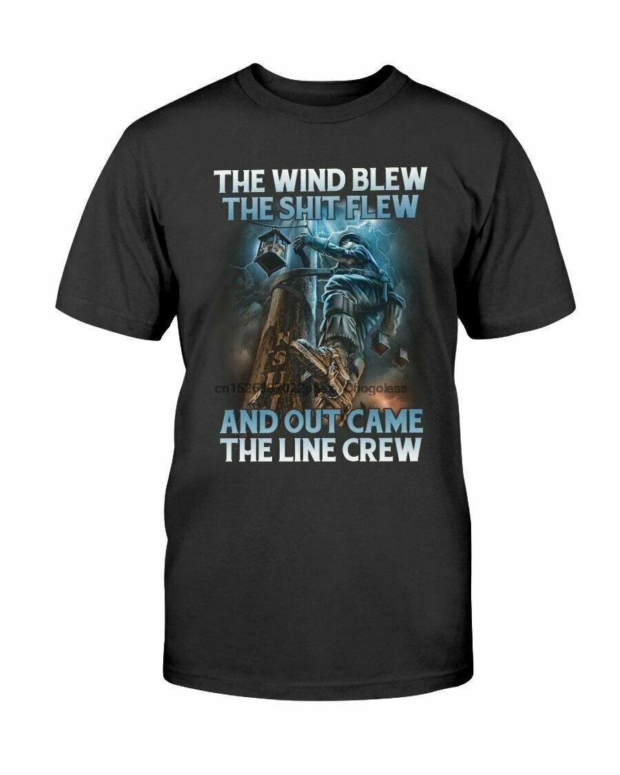 Lustige Power Lineman T-Shirt Electricial Linienrichter T Geschenk Out Kam Die Linie Crew