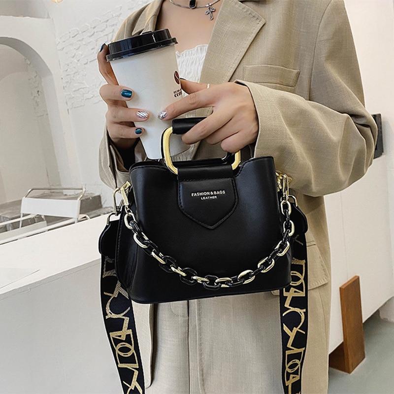 2020 Luxury women's one-shoulder handbag PU Leather quality Messenger Casual Fashion Classic Women's bag Messenger Handbag