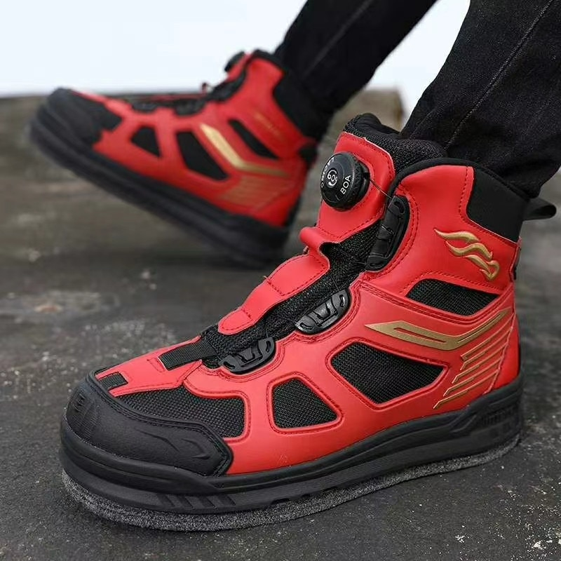 New Brand Anti-Slip Felt Rock Fishing Shoes For Men Fly Fishing Waders Outdoor Waterproof Hunting Wading Shoes Upstream 39-45 enlarge