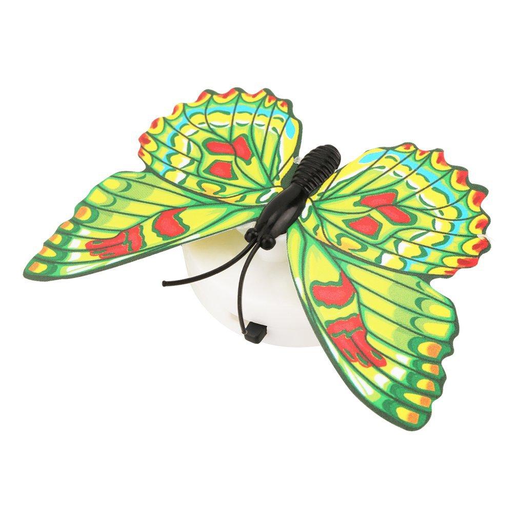 Colorida cambiante mariposa Led lámpara de luz nocturna hogar habitación boda mesa de fiesta decoración de pared con ventosa niños regalos