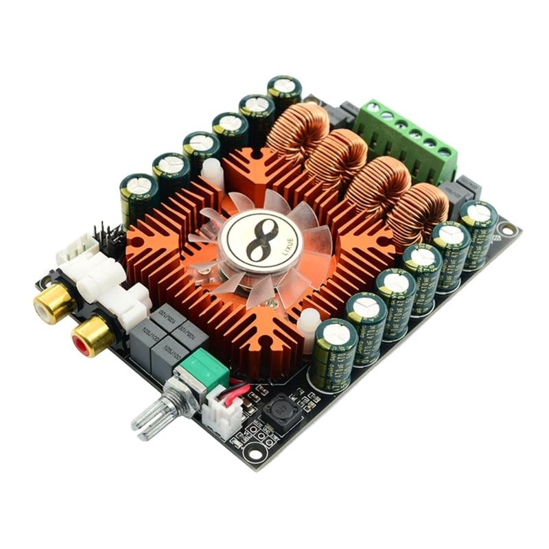 لوحة مكبر صوت رقمية عالية الطاقة TDA7498E 2.0 ستريو 160Wx2 لأنظمة الصوت المنزلية تدعم BTL220W