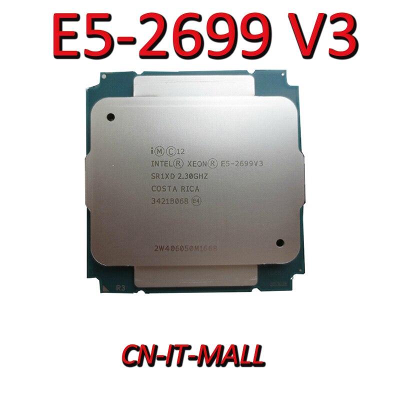 Puxado E5-2699 v3 servidor cpu 2.3g 45 m 18 núcleo 36 thread LGA2011-3 processador