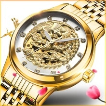 Women Watches TEVISE 9006 Phoenix Automatic Watch Woman Gold Montre Femme Mechanical Wristwatches Wa