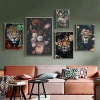 Affiche de mode avec fleurs et oiseaux  decoration creative pour maison  porche  chambre a coucher  salon  sans cadre  impression artistique  peinture suspendue
