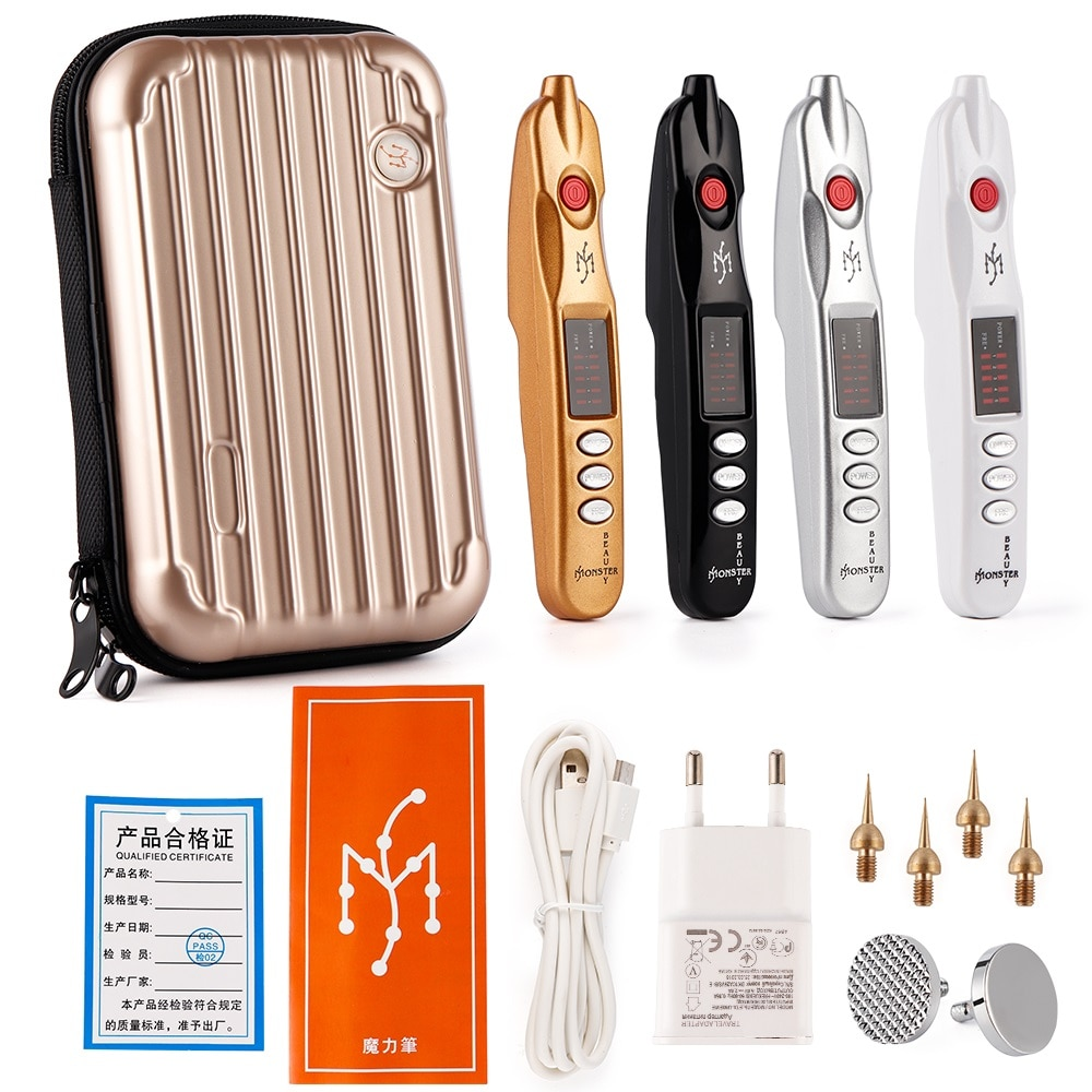 Electric Plasma Pen Dark Spot Pigment Remove Mole Tattoo Wart Blackhead Removal Tool Skin Firming Lonic Pen Skin Care Machine