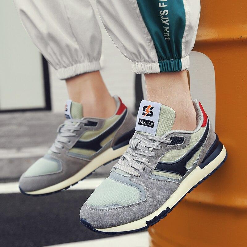 Zapatillas Retro, zapatos informales transpirables para hombre y mujer, zapatos grises oscuros salvajes para hombre, zapatos masculinos, zapatos