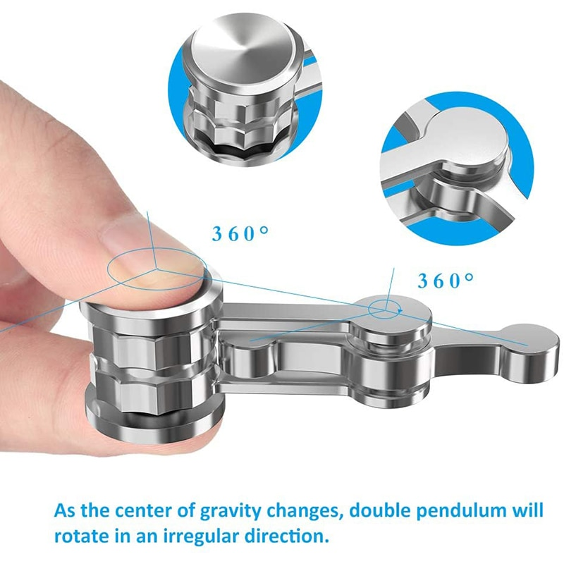 Chaos Pendulum Double Pendulum Fingertip Spinning Top Gifts Adult Decompression Gravity Hand Spinner Fidget enlarge