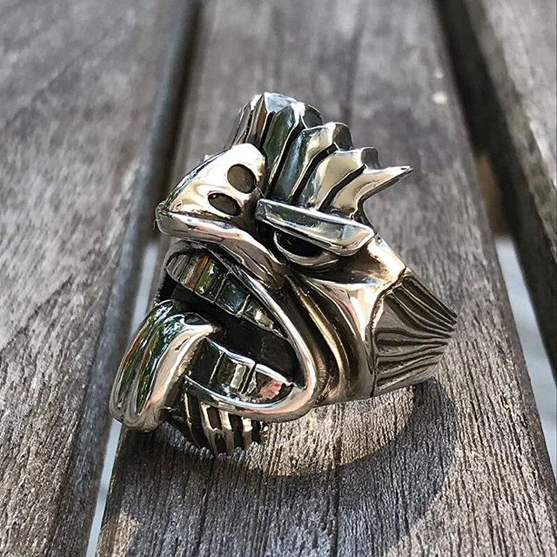 Уникальный кольцо из нержавеющей стали 316L тики Тотем кольца для мужчин Племенной Байкерский амулет мужские ювелирные изделия