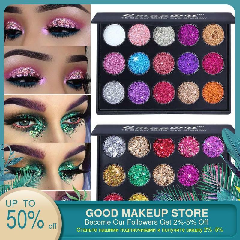 Smoky/couleur chaude maquillage pour les yeux mat paillettes fard à paupières diamant miroitant apprêt pour les yeux lumineux ombre à paupières maquillage Palette scintillante ensemble