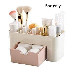 Drawer Cosmetic Storage Box Makeup Brush Finishing Box Desktop Jewelry Skin Care Compartmental Dressing Box