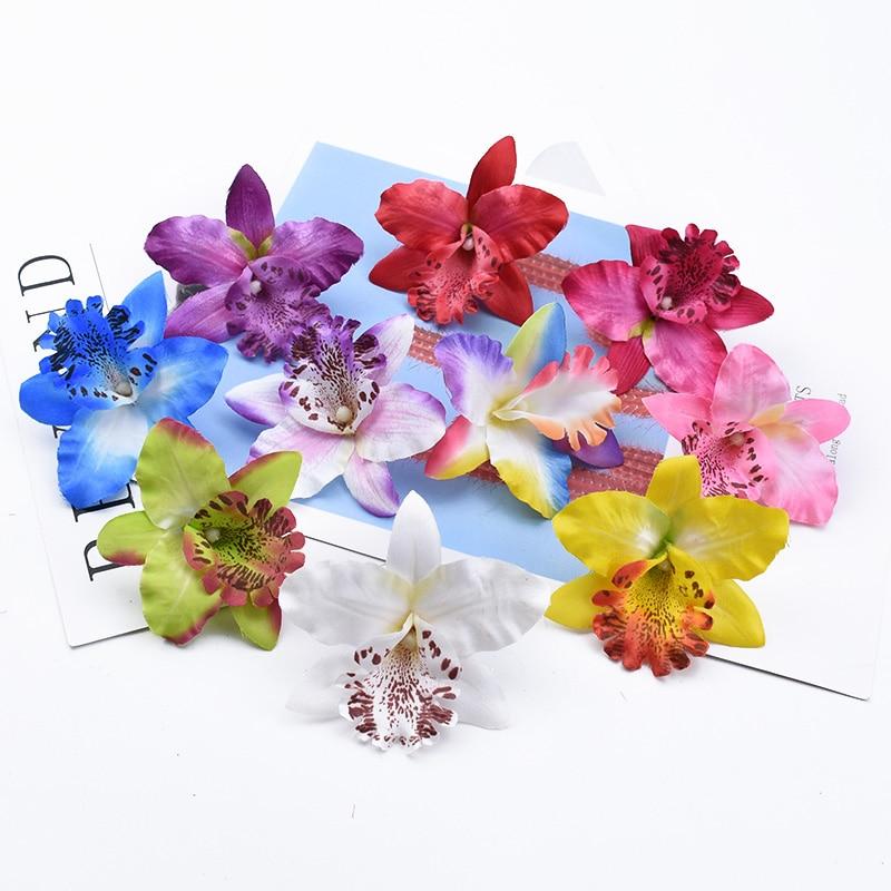 2/5/10 Stuks Thai Vlinder Orchidee Wedding Bridal Accessoires Klaring Diy Cadeaus Candy Box Home Decor Kunstbloemen Goedkope