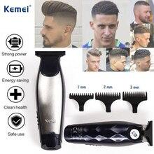 Kemei tondeuse à cheveux professionnel Rechargeable 0.1mm tête nue tondeuse à cheveux barbier pour hommes coupe de cheveux Machine sans fil barbe rasoir