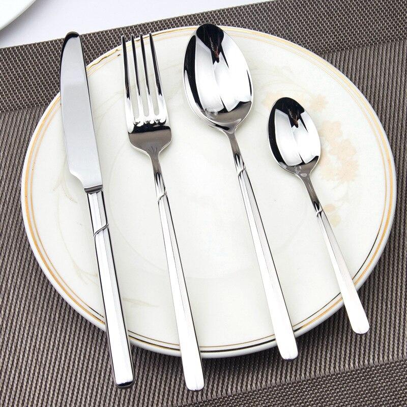 Фото - Набор посуды, роскошные столовые приборы, стальной набор, качественные столовые приборы из 4 предметов, столовый Обеденный набор, Западная е... набор посуды splash 7 предметов 3 миски стаканчик столовые приборы ц фиолетовый