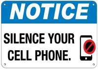 notice silence your cell phone no cell phones label vinyl decal sticker kit osha safety label compliance signs 8