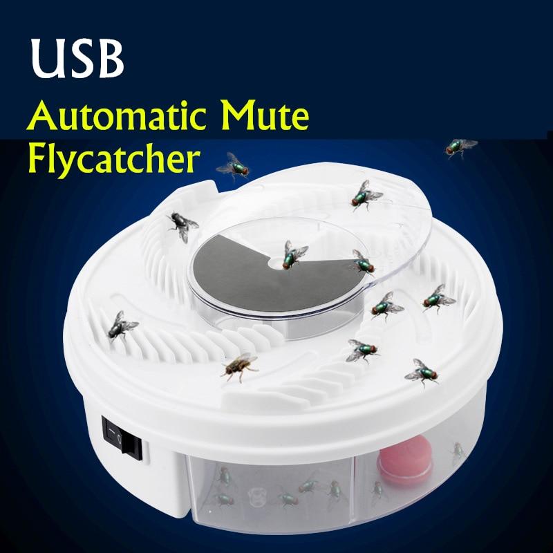 USB elektrikli sinek kapanı otomatik etkili Flycatcher kontrol böcek alıcı eserler kovucu sivrisinek uçan sinek öldürücü