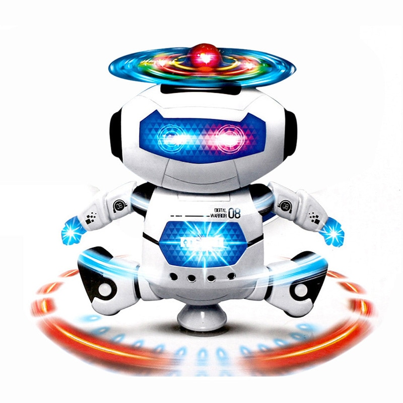 Hot 360 Space Rotating Smart Dance Astronaut Robot Music LED Light Electronic Walking Funny Toys for Kids Children Birthday Gift