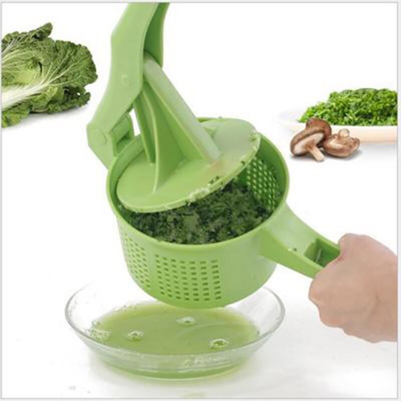 Secador Manual de frutas deshidratador de verduras herramienta de prensa de agua frutas ensalada lechuga colador de verduras utensilios de cocina
