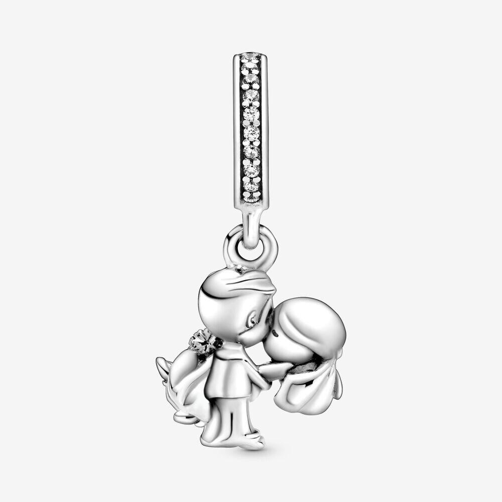 2020 novo 925 prata esterlina charme novo casamento casal pingente caber pandora pulseira & colar jóias diy