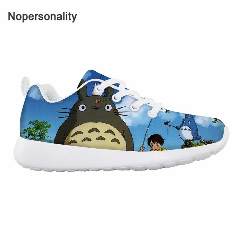Nopersonality-أحذية رياضية شبكية للأطفال ، أحذية رياضية للجري ، خفيفة الوزن ، مطبوعة ، جاري توتورو ، للبنات والأولاد