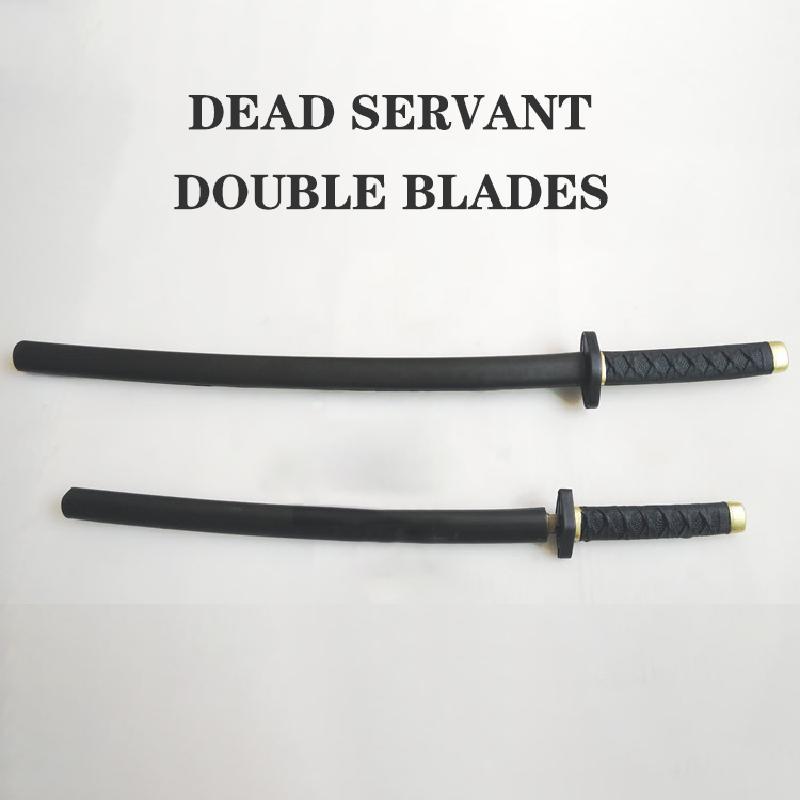 Arma de Pu, sirvienta muerta, doble hoja, arma Ninja, juguetes para niños, Cosplay puesta en escena, Espada Samurai Blade
