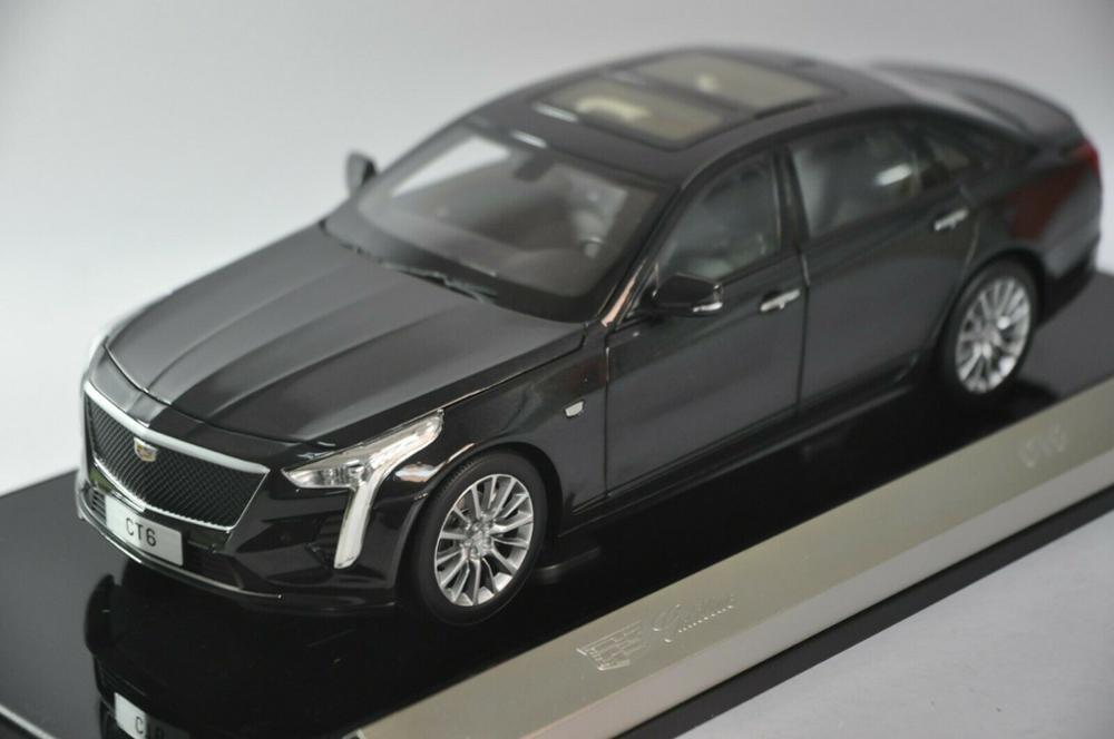 118 modelo de fundición para GM Cadillac CT6 2019 Sedan negro aleación coche miniatura colección regalos CT