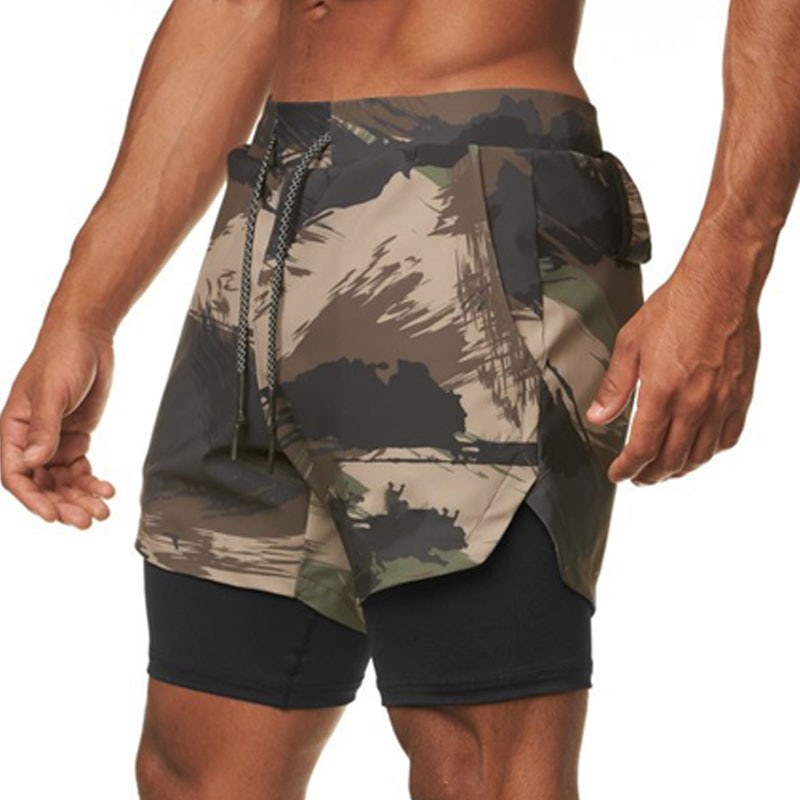 Summer running mens shorts sports quick-drying wear-resistant jogging gym fitness exercise sportswear compression