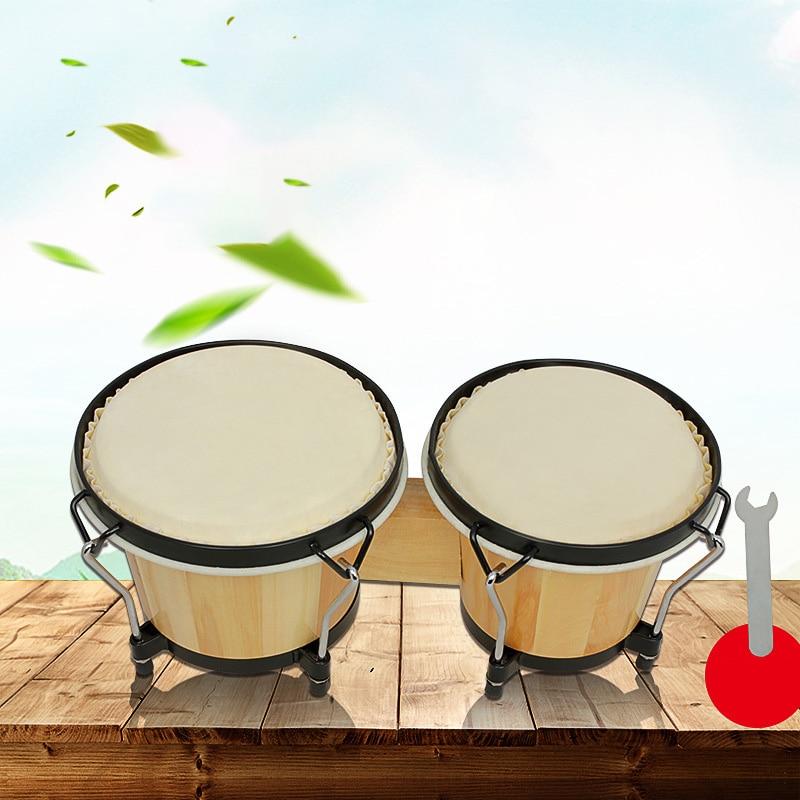 2pcs Sheepskin Drum Skin Leather on For African Drum Bongo Drum 6inch 5.5inch Diameter Drum Instrumentos Musicales Percusion