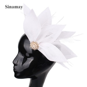 Gorgeous Women Ladies Party Headwear With Fancy Feathers Hair Pin Fascinators Hair Accessories Formal Dress Bridal Wedding Hats