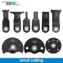 Newone profissional corte de madeira universal oscilante multi ferramenta lâmina serra para ferramenta elétrica renovador fein bosch makita milwaukee