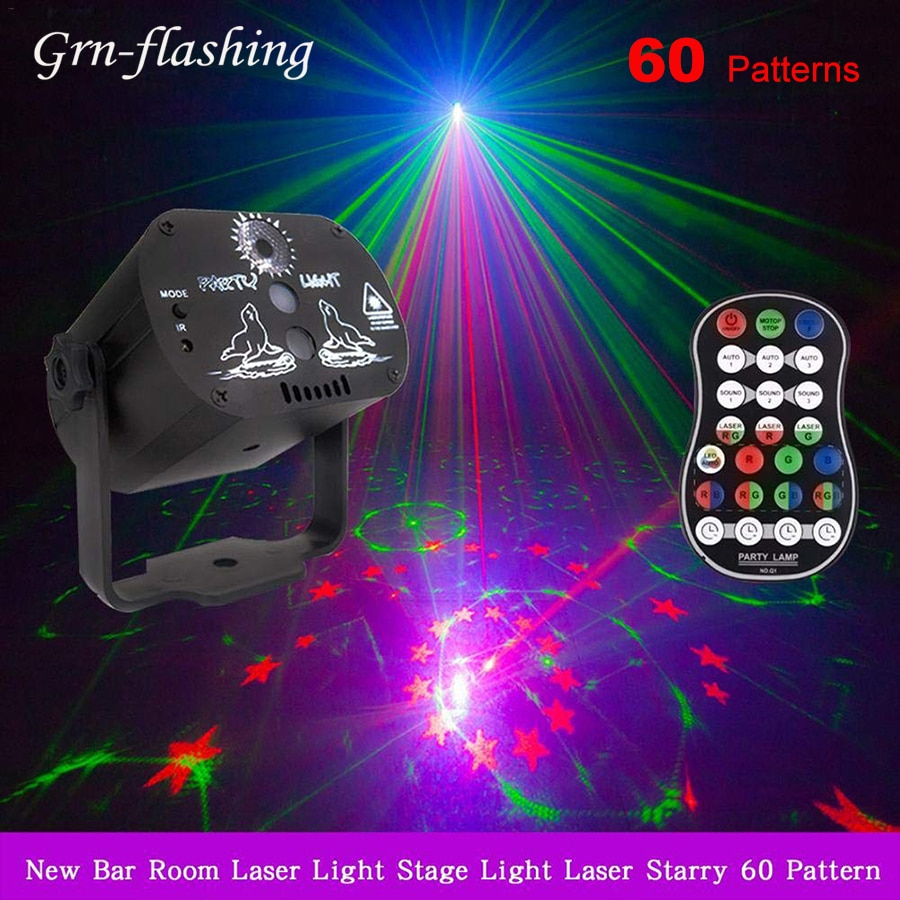 3w usb 5v mini disco ball lamp dj ktv stage light wireless ir remote voice activated lamp home party dance floor rgb light show 60 Modes RGB LED Disco Light USB Rechargeable Home Party Laser Projector Lamp for KTV DJ Dance Floor Stage Effect Lighting Show