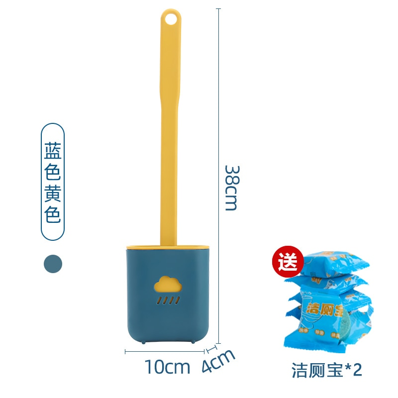 Curved Toilet Brush Creative Flat ThermoPlastic Rubber Wall Mounted Toilet Brush Set Silicone Brosse Wc Cleaning Tools DK50TB enlarge