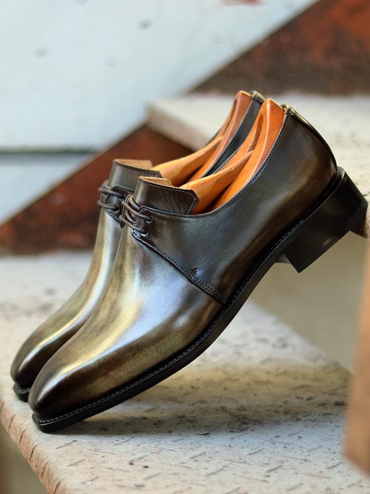 Cie الرجال الأحذية الجلدية اللباس سوسا الذكور الجلود الإيطالية عالية الجودة جلد العجل الحقيقي مع الشحن Goodyear Welted DE50