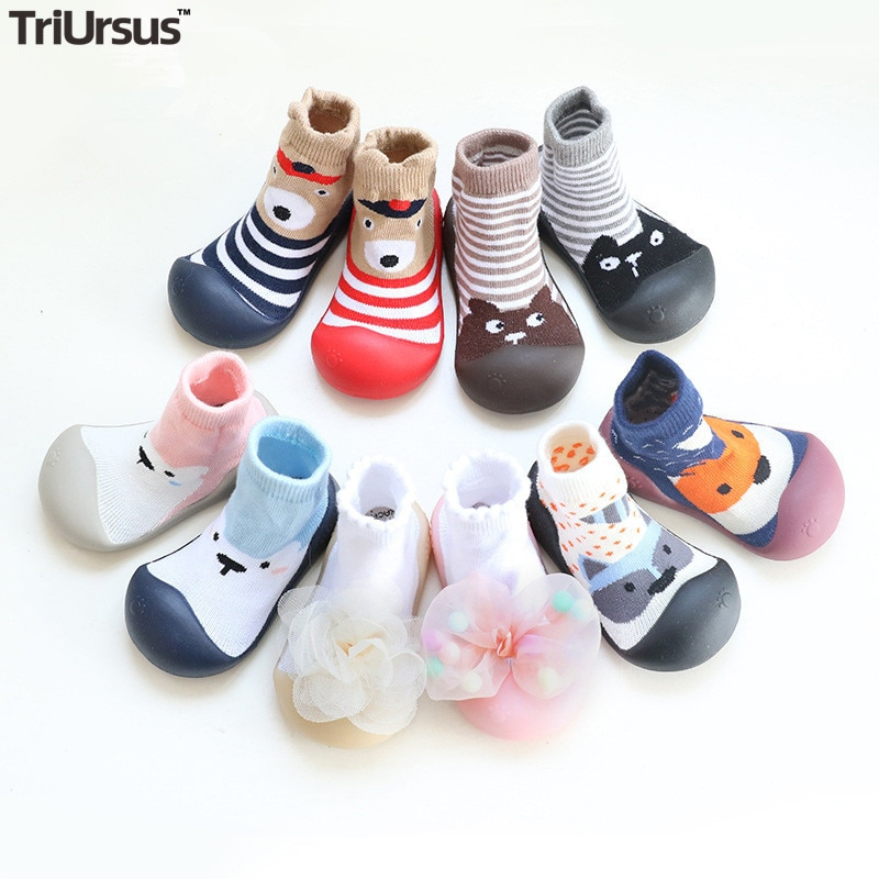 Attipas Baby Boys Girls Shoes Newborn Girls Boys Floor Socks Cartoon Infant Baby Foot Socks First Wa