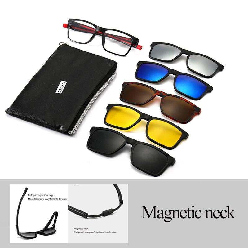 Унисекс очки солнцезащитные очки в стиле ретро с 5 шт. сменными объективами для Для мужчин Для женщин Для мужчин Небьющийся TR90 рамочный зажим на УФ защита от солнца Мужские солнцезащитные очки      АлиЭкспресс