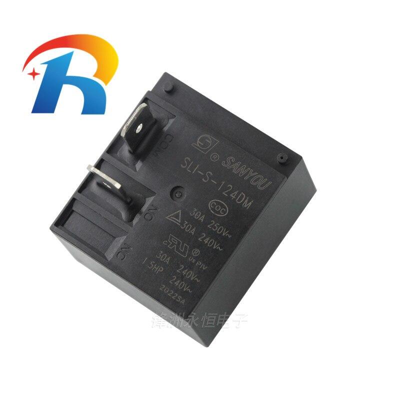 شحن مجاني 50 قطعة 100% الأصلي جديد SANYOU SLI-S-112DM 12VDC SLI-S-124DM 24VDC 30A 4 دبابيس السلطة التقوية
