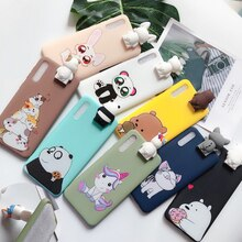 for etui Samsung Galaxy A7 A9 2018 Case Kawaii 3D Unicorn Silicone Cover on for Samsung A7 A9 A6 Plus A5 2017 Case Phone Holder