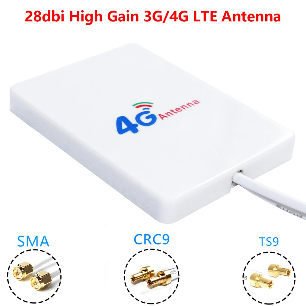 free sample 4g 3g gsm antenna 5dbi high gain magnetic base with 3meters cable crc9 ts9 sma 1pcs 28dBi High Gain 3G 4G LTE Router Modem Aerial External Antenna Dual SMA TS9 CRC9 With 3 Meters RG174 Cable